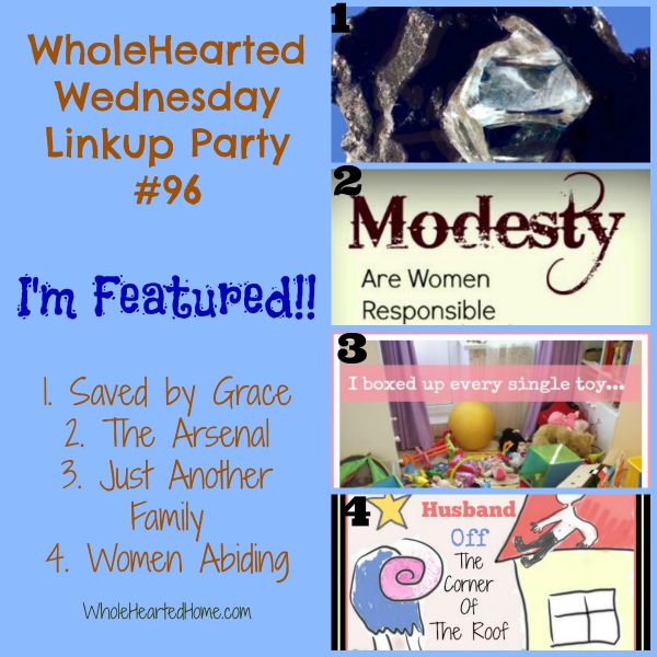 I'm Featured {WholeHearted Home}
