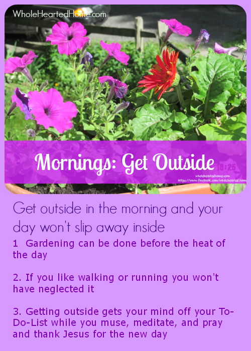 Mornings Get Outside {WholeHearted Home}