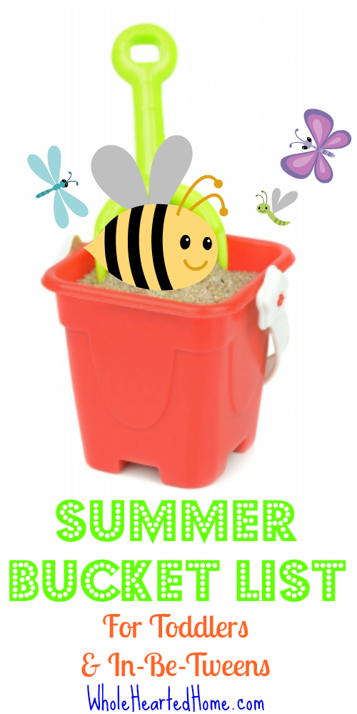 Summer Bucket List for Toddlers & In-Be-Tweens {WholeHearted Home}