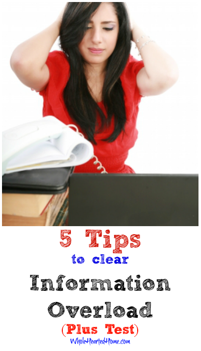 5 Tips to Clear Information Overload (Plus Test)