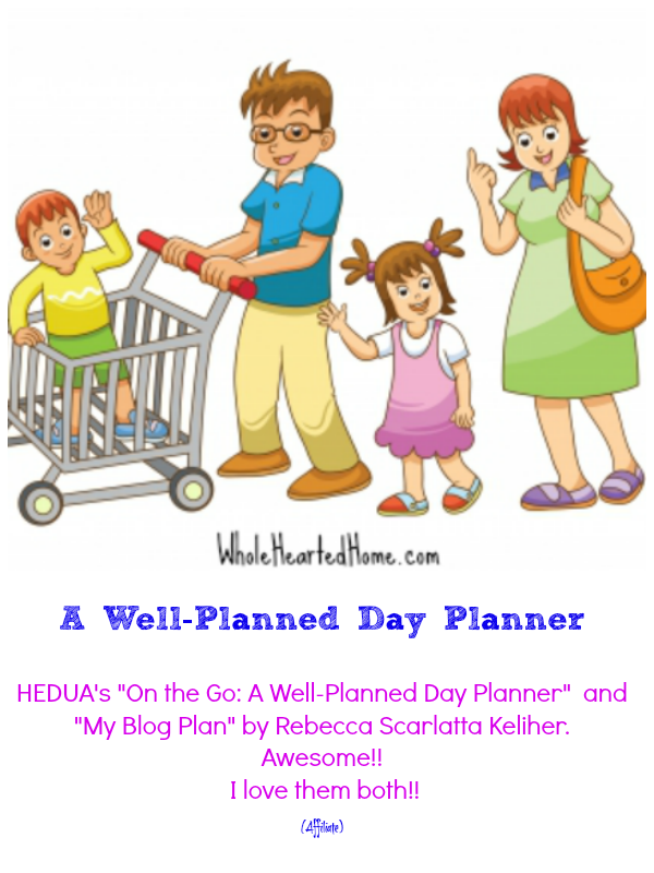 A Well-Planned Day Planner {WholeHearted Home}
