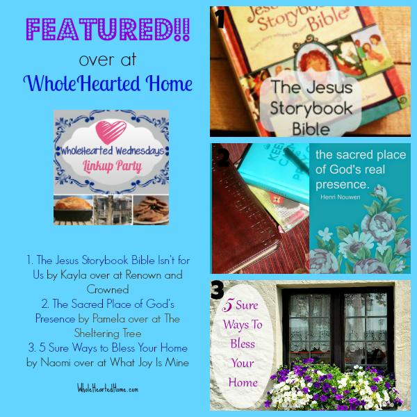 Featured - Over at WholeHearted Home {WholeHearted Home}
