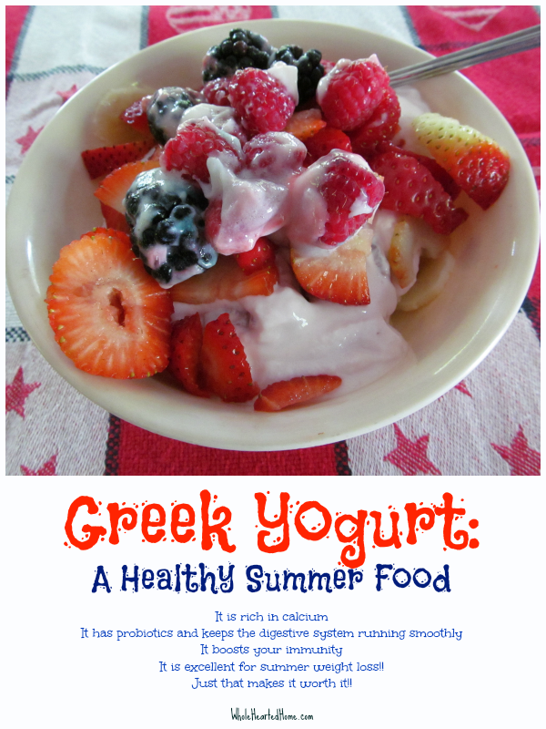 Greek Yogurt A Healthy Summer Food {WholeHearted Home}