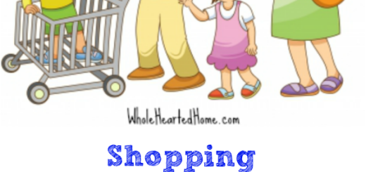 Shopping with Many Littles {WholeHearted Home}