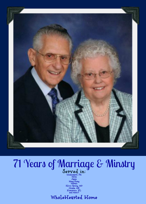 71 Years of Marriage & Ministry - Anthony & Evelyn Bollback {WholeHearted Home}