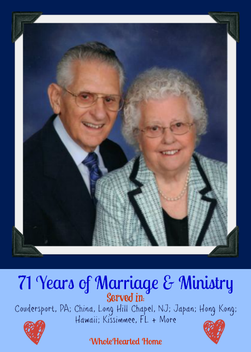 Anthony & Evelyn Bollback - 71 Years{WholeHearted Home}