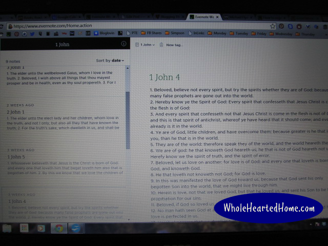 How To Use Evernote for Spiritual Journaling 4 {WholeHearted Home}