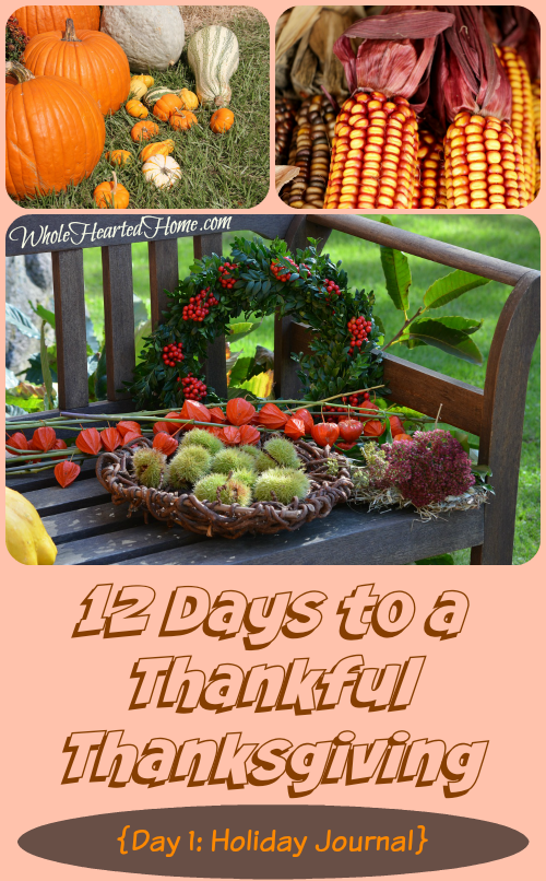 12 Days to a Thankful Thanksgiving {Day 1 Holiday Journal}