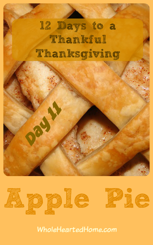 12 Days to a Thankful Thanksgiving {Day 11 Apple Pie