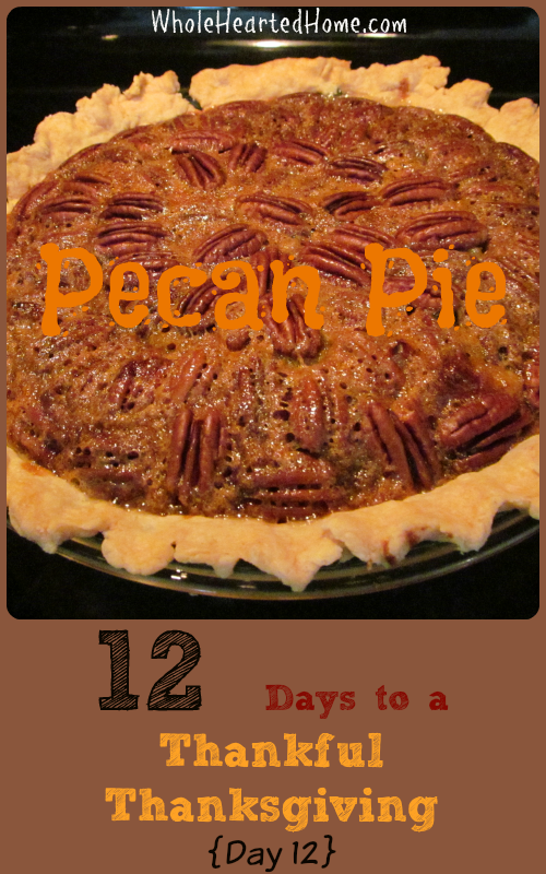 12 Days to a Thankful Thanksgiving {Day 12 Pecan Pie}