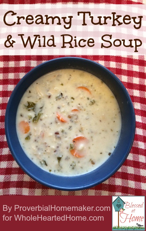 Use up leftover turkey after Thanksgiving with this crock pot soup!