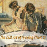 The Lost Art of Ironing (Part 2)