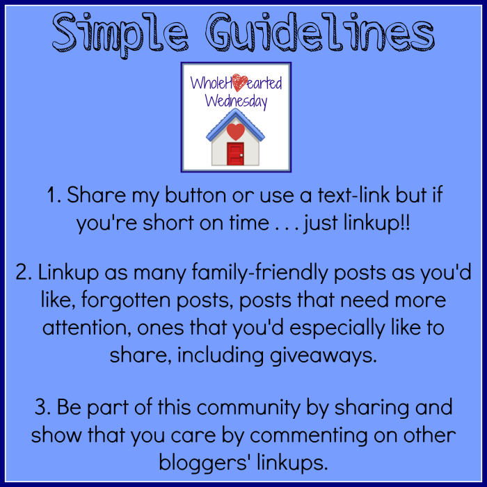WholeHearted Wednesday Guidelines